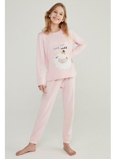 Penti Orchıd Teen Sheep Termal 2Li Pijama Takımı Mor